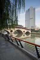 Kina chengdu broar landskap, landskap Hejiangting foto