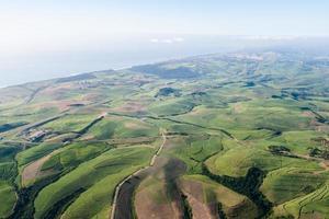 flygande landskap sockerrör kust foto