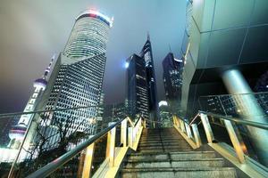 shanghai lujiazui stadslandskap foto