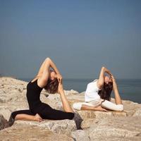 yogaställning foto