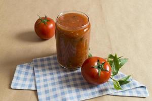 tomatsås - vegansk mat foto