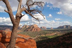 landskap utsikt över sedona foto