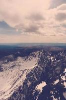 vackra bergslandskap. foto
