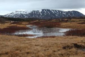 landskap med ett berg foto
