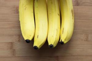rad med bananer