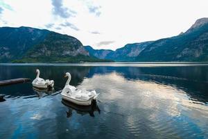 naturskön utsikt över Hallstatt, Österrike
