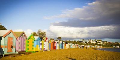 Brighton badlådor i rad foto