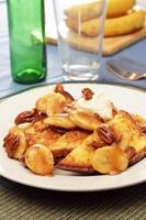bananer främjar fransk toast