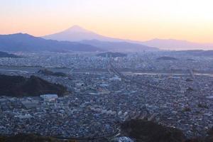 mt.fuji och shizuoka-shi foto