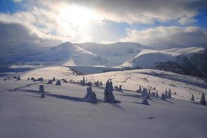 vintern i Rumänien