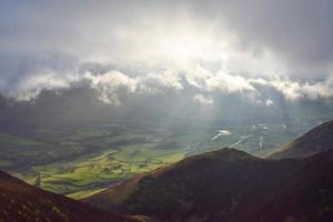vinter bergsljus foto