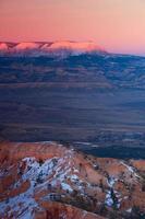 bryce vinter soluppgång foto