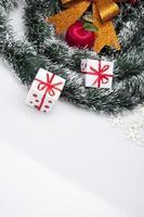 juldekorationer och vintertema foto