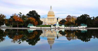 USA: s huvudstadsbyggnad i Washington DC, USA foto