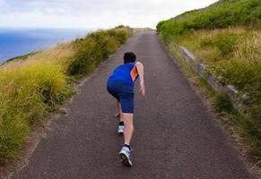 aktiv löpande man foto