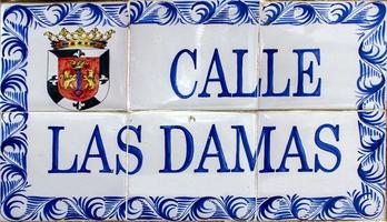 gata tecken i santo domingo, Dominikanska republiken foto