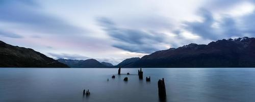 panoramautsikt över sjön wakatipu foto