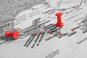 röd markör över Costa Rica foto