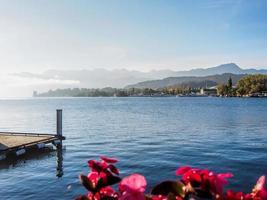 lugano sjön, schweiz foto