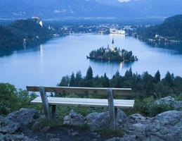 bled lake view foto