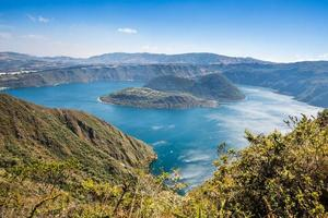 cuicocha kratersjö, reserv cotacachi-cayapas, ecuador