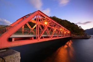 sansen bridge i hokkaido, japan foto