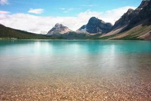 sjö och berg foto