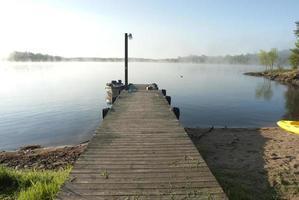 morgon på sjön foto