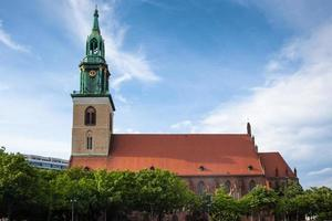 st. Mary's kyrka, känd på tyska som marienkirche, berlin foto