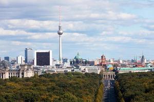 dagsvy av centrala distriktet Berlin foto