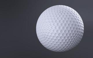 golfboll isolerad på grå bakgrund foto