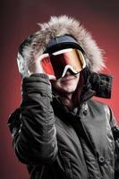 vintersport kvinna foto