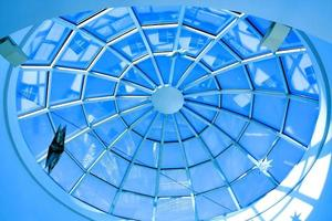 abstrakt blått geometriskt tak