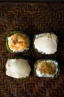 fyra av thailändsk efterrätt foto