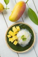 mango klibbigt ris foto