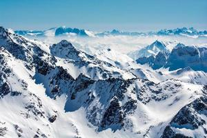 skidort i neustift Stubai glaciär Österrike foto