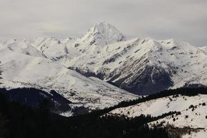 panoramautsikt, södra sidan, av massivet av maladeta pyrenee foto
