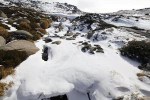 snöiga berg nya södra wales foto