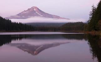 mt huva slät reflektion Trilliumsjön Oregon territorium