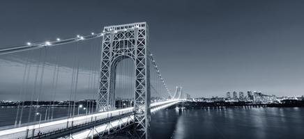 george washington bridge svartvitt foto