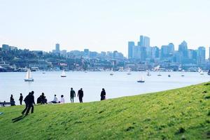 utsikt över staden foto