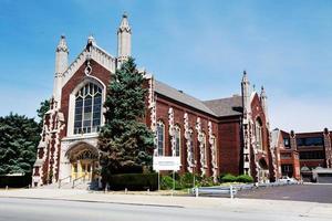 helgon margaret från Skottlands kyrka i Washingtonhöjder, Chicago foto
