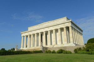 lincoln minnesmärke i Washington DC, USA foto