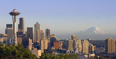 Seattle och berget foto