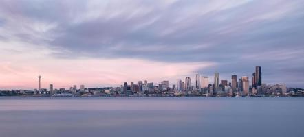 panoramautsikt över skyline i Seattle foto