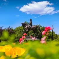 boston gemensamma george washington monument foto