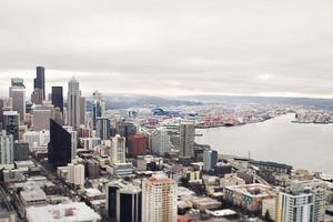 utsikt över Seattle Elliot Bay foto