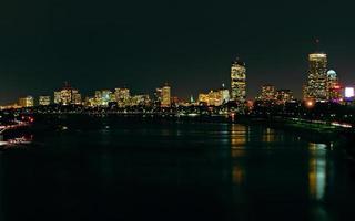 boston skyline på natten # 1 foto