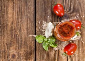 del av tomatsås foto
