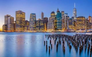 new york city skyline foto